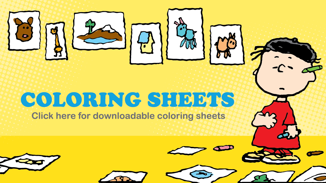 Coloring Sheets - Click here for downloadable coloring sheets