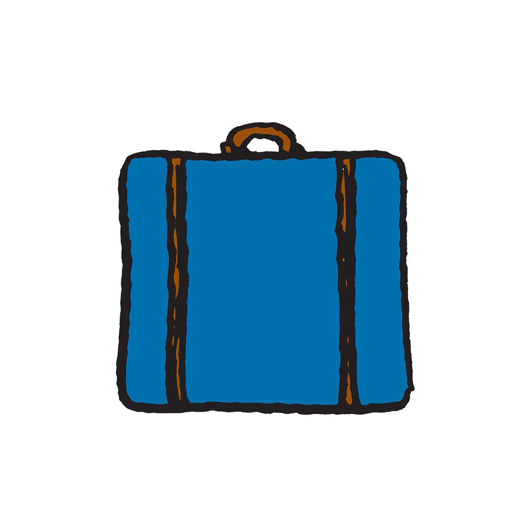Blue suitecase
