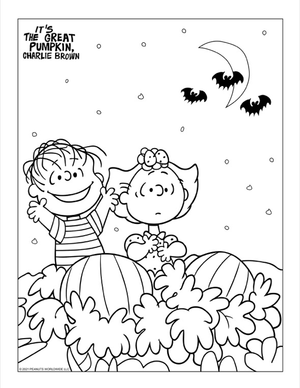 A boy and girl sitting in a pumpkin patch.